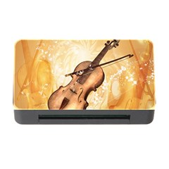 Wonderful Violin With Violin Bow On Soft Background Memory Card Reader with CF