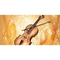 Wonderful Violin With Violin Bow On Soft Background YOU ARE INVITED 3D Greeting Card (8x4)