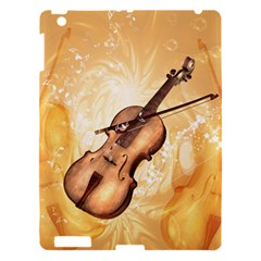 Wonderful Violin With Violin Bow On Soft Background Apple iPad 3/4 Hardshell Case