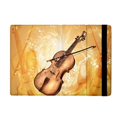 Wonderful Violin With Violin Bow On Soft Background Apple iPad Mini Flip Case