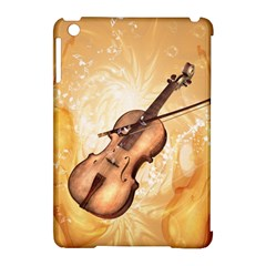 Wonderful Violin With Violin Bow On Soft Background Apple iPad Mini Hardshell Case (Compatible with Smart Cover)