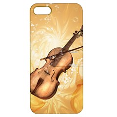 Wonderful Violin With Violin Bow On Soft Background Apple iPhone 5 Hardshell Case with Stand