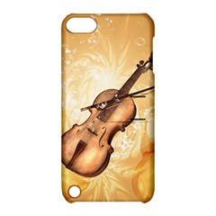 Wonderful Violin With Violin Bow On Soft Background Apple iPod Touch 5 Hardshell Case with Stand