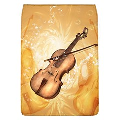 Wonderful Violin With Violin Bow On Soft Background Flap Covers (L)