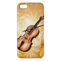 Wonderful Violin With Violin Bow On Soft Background iPhone 5S Premium Hardshell Case