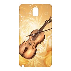 Wonderful Violin With Violin Bow On Soft Background Samsung Galaxy Note 3 N9005 Hardshell Back Case