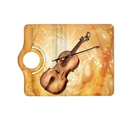 Wonderful Violin With Violin Bow On Soft Background Kindle Fire Hd (2013) Flip 360 Case