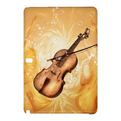 Wonderful Violin With Violin Bow On Soft Background Samsung Galaxy Tab Pro 10 1 Hardshell Case