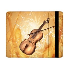 Wonderful Violin With Violin Bow On Soft Background Samsung Galaxy Tab Pro 8.4  Flip Case
