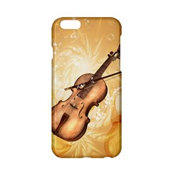 Wonderful Violin With Violin Bow On Soft Background Apple iPhone 6/6S Hardshell Case