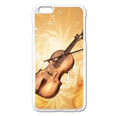 Wonderful Violin With Violin Bow On Soft Background Apple Iphone 6 Plus/6s Plus Enamel White Case