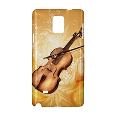 Wonderful Violin With Violin Bow On Soft Background Samsung Galaxy Note 4 Hardshell Case