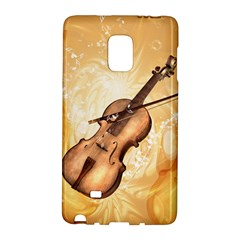 Wonderful Violin With Violin Bow On Soft Background Galaxy Note Edge