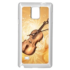 Wonderful Violin With Violin Bow On Soft Background Samsung Galaxy Note 4 Case (white)