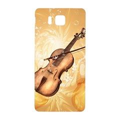 Wonderful Violin With Violin Bow On Soft Background Samsung Galaxy Alpha Hardshell Back Case