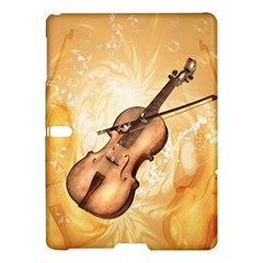 Wonderful Violin With Violin Bow On Soft Background Samsung Galaxy Tab S (10 5 ) Hardshell Case