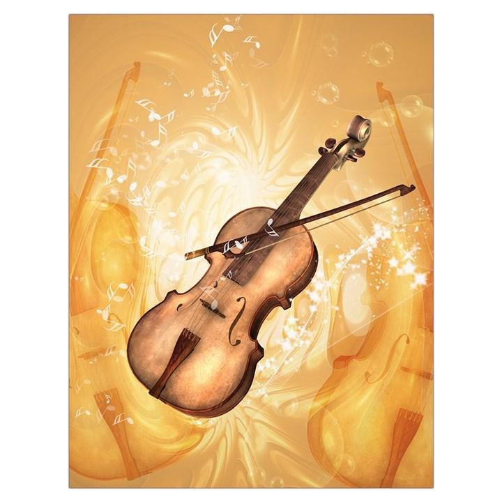 Wonderful Violin With Violin Bow On Soft Background Drawstring Bag (Large)