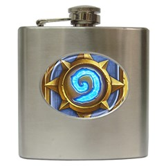 Hearthstone Update New Features Appicon 110715 Hip Flask (6 oz)
