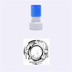 Hearthstone Update New Features Appicon 110715 Rubber Round Stamps (small)