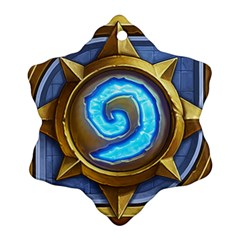 Hearthstone Update New Features Appicon 110715 Snowflake Ornament (2 Side)