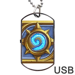 Hearthstone Update New Features Appicon 110715 Dog Tag USB Flash (One Side)
