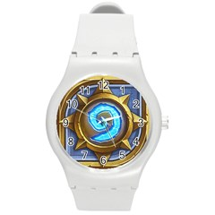 Hearthstone Update New Features Appicon 110715 Round Plastic Sport Watch (M)