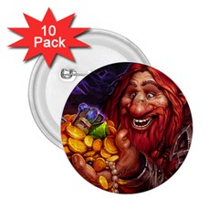 Hearthstone Gold 2.25  Buttons (10 pack)