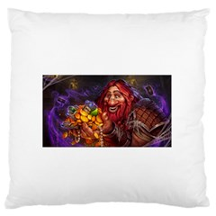 Hearthstone Gold Large Flano Cushion Cases (one Side)
