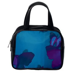 Purple and Turquoise Butterflies Classic Handbags (One Side)