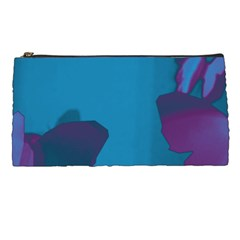 Purple and Turquoise Butterflies Pencil Cases