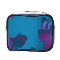 Purple and Turquoise Butterflies Mini Toiletries Bags