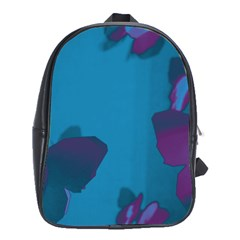 Purple and Turquoise Butterflies School Bags (XL)
