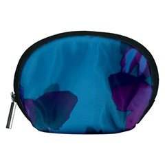 Purple and Turquoise Butterflies Accessory Pouches (Medium)