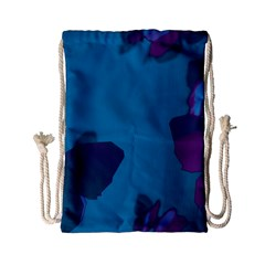 Purple and Turquoise Butterflies Drawstring Bag (Small)