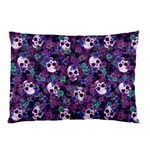 Flowers and Skulls Pillow Case (Two Sides) Back