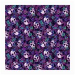 Flowers and Skulls Glasses Cloth (Medium, Two Sided) Front