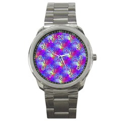 Rainbow Led Zeppelin Symbols Sport Metal Watch