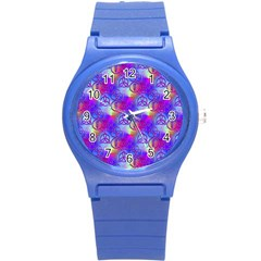 Rainbow Led Zeppelin Symbols Plastic Sport Watch (Small)
