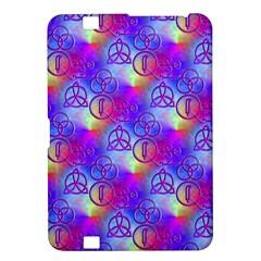 Rainbow Led Zeppelin Symbols Kindle Fire HD 8.9  Hardshell Case