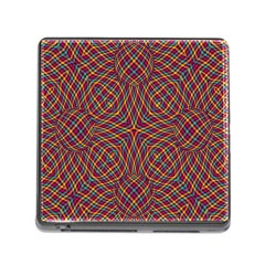 Trippy Tartan Memory Card Reader with Storage (Square)