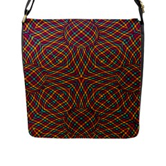 Trippy Tartan Flap Closure Messenger Bag (Large)