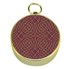 Trippy Tartan Gold Compass