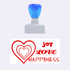 Joy love happiness icon035 Medium Rubber Stamp (Rectangle)