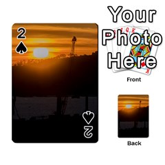 Aerial View Sunset Scene Of Montevideo Uruguay Playing Cards 54 Designs