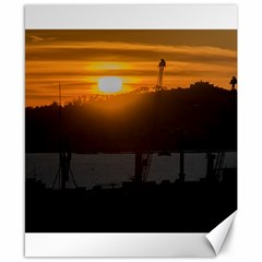Aerial View Sunset Scene Of Montevideo Uruguay Canvas 8  x 10