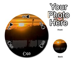 Aerial View Sunset Scene Of Montevideo Uruguay Playing Cards 54 (round)