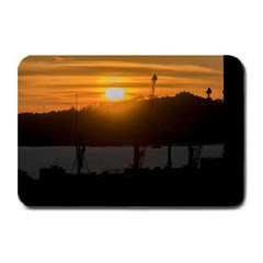 Aerial View Sunset Scene Of Montevideo Uruguay Plate Mats