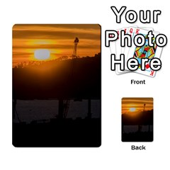 Aerial View Sunset Scene Of Montevideo Uruguay Multi Purpose Cards (rectangle)