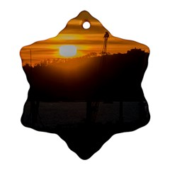 Aerial View Sunset Scene Of Montevideo Uruguay Snowflake Ornament (2 Side)