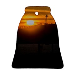 Aerial View Sunset Scene Of Montevideo Uruguay Bell Ornament (2 Sides)